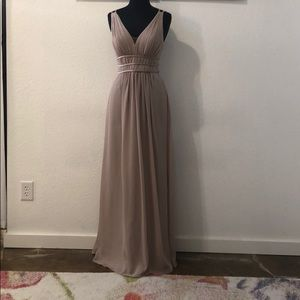Dresses & Skirts - Nude pink chiffon gown